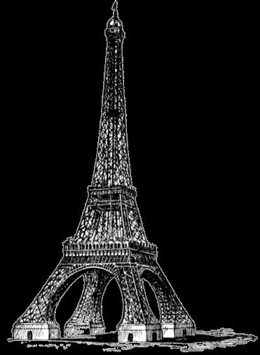 free vintage digital stamp_eiffel tower